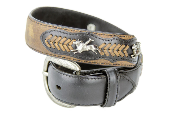Brigalow Boys Dark Brown Leather w/ Bull Rider Conchos