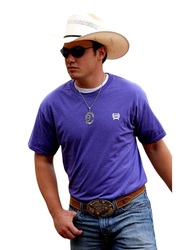 Cinch Mens Purple T Shirt