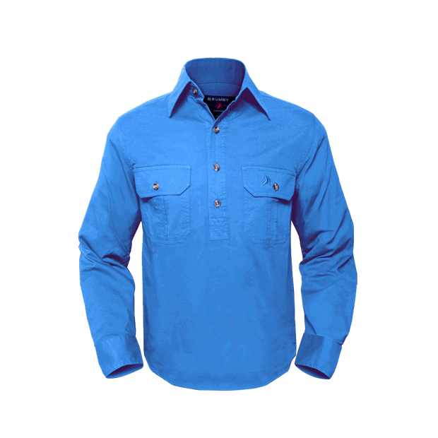 Brumby Workshirt -Sky Blue