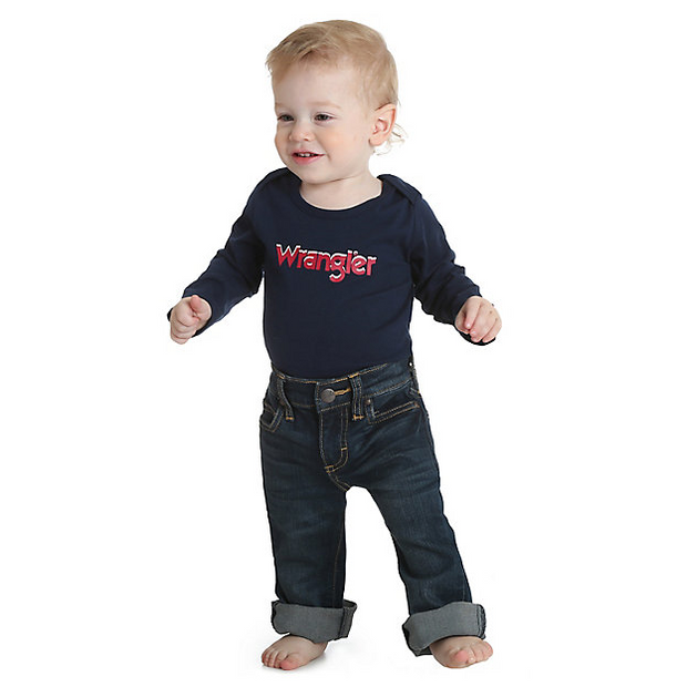 Wrangler Baby Boy Navy Long Sleeved Bodysuit