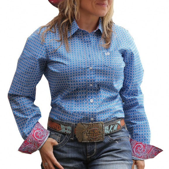 Cinch Womens L/S Shirt - Loretta - Blue