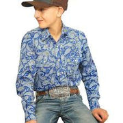 Cinch Boys Long Sleeved Shirt - BLU