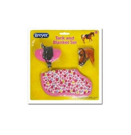 Breyer Classics Western Tack and Blanket Set Pink Flowers