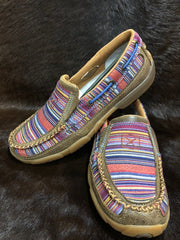 Twisted X Ladies Casual Driving Moc- Bomber/ Multi Serape - ON SALE