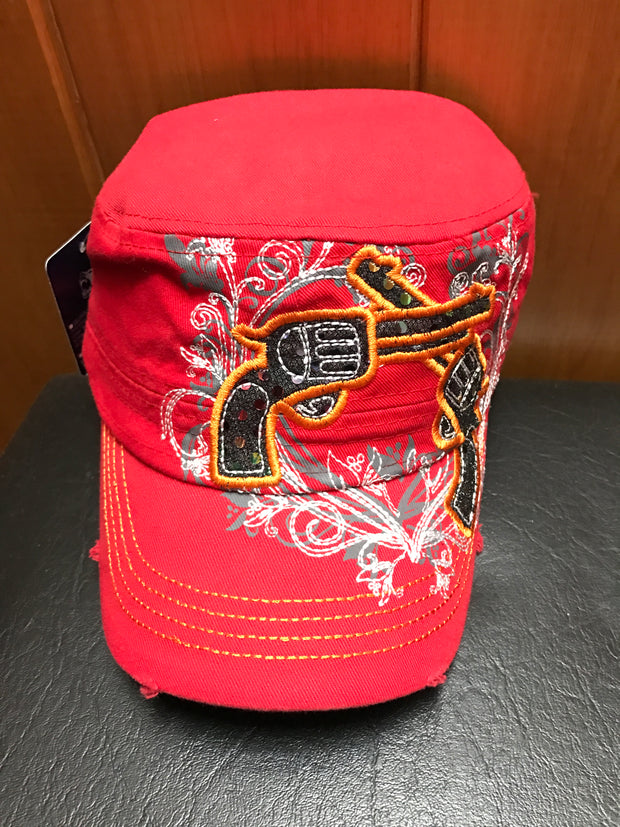 Ladies Red Guns Cap
