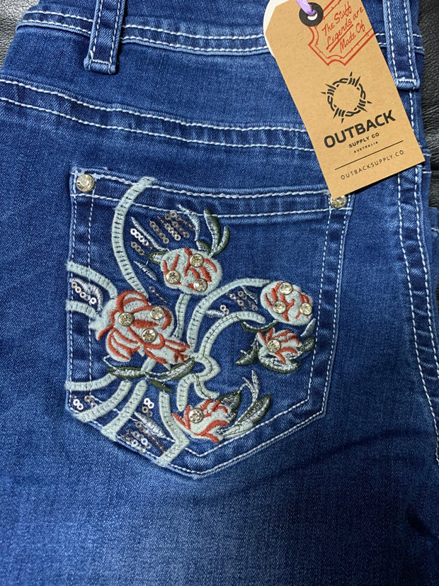 Outback Wild Child Ladies Denim Scarlett Jean- 34 Leg