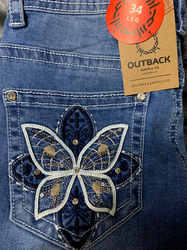 Outback Wild Child Ladies Denim Gabby Jean- 34 Leg