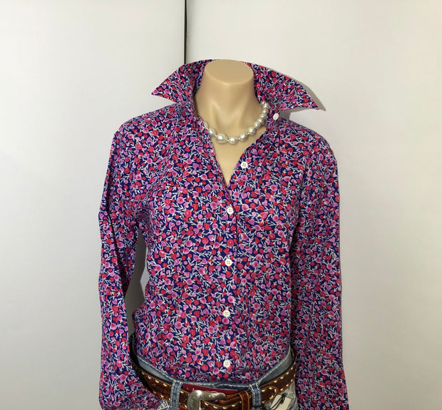 Country Tradition Ladies L/S Bright Floral Shirt