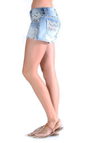 Grace in LA Ladies Light Denim Layla Shorts