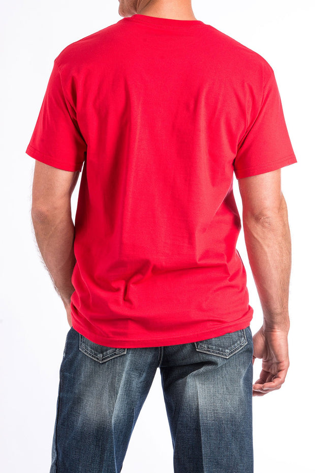 Cinch Mens Classic Red T Shirt