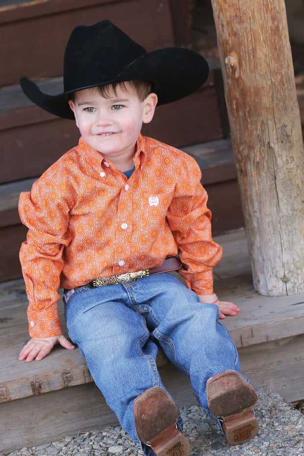 Cinch Toddler Boys Cade L/S Shirt - ON SALE