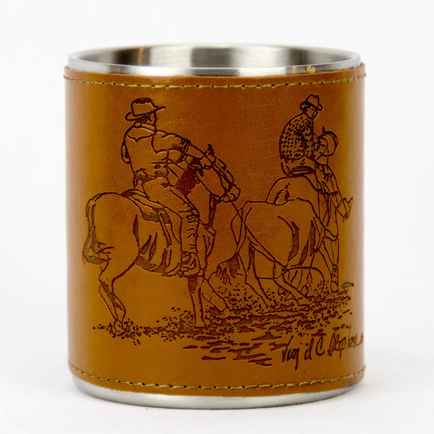Brigalow Leather Team Roping Mug