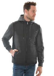 Pure Western Mens Colorado Puffer Jacket - Black