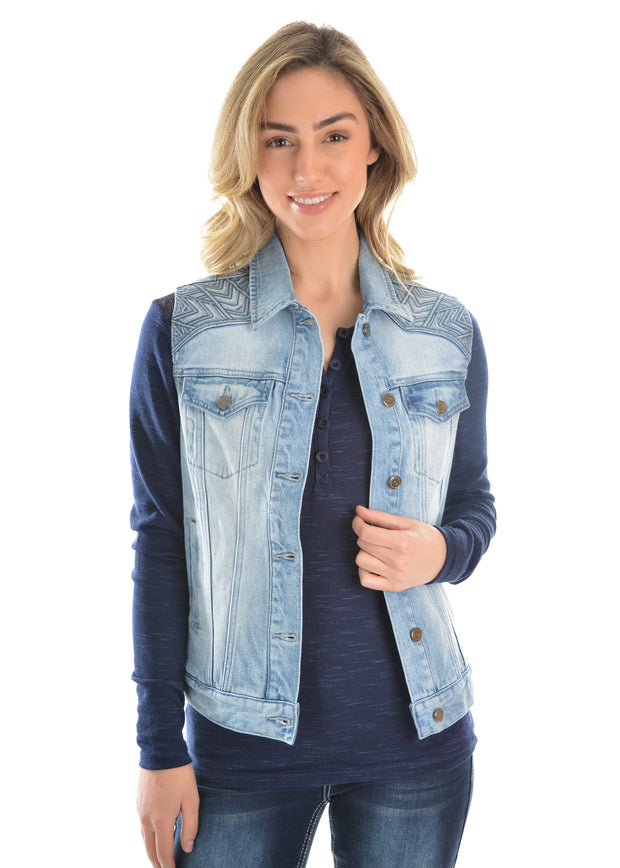 Pure Western Ladies Valerie Denim Vest