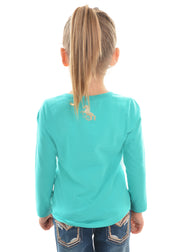Pure Western Girls Laura L/S Top - Turquoise