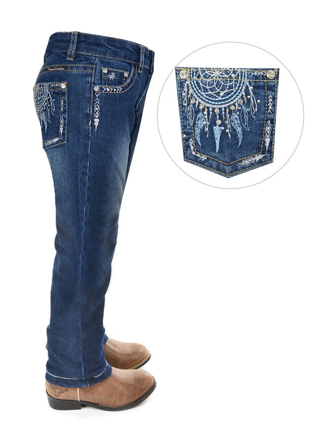 Pure Western Girls Trudy Slim Leg Jean