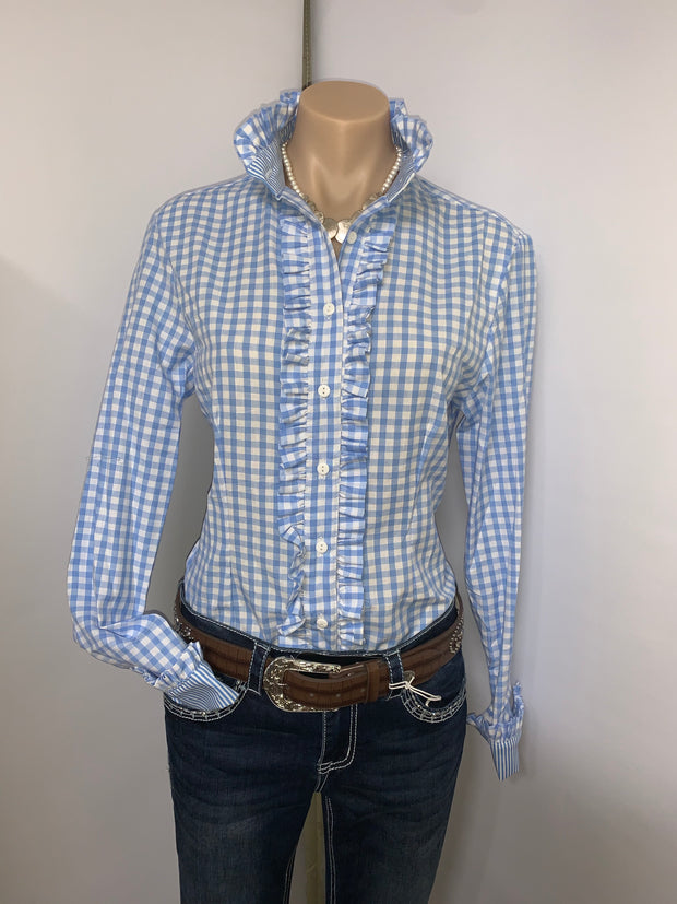 Nettie's Light Blue Gingham L/S Shirt