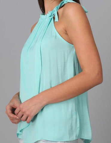Ladies Fashion Top - Aqua