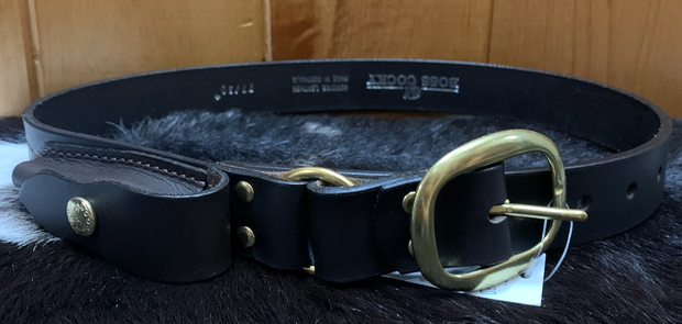 Boss Cocky Knife Belt with Brass Buckle