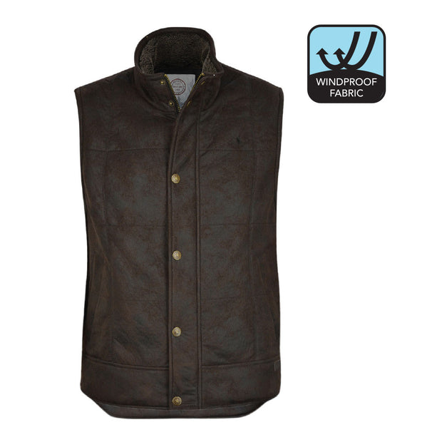 Thomas Cook Mens Jack Sueded Sherpa Vest - Brown