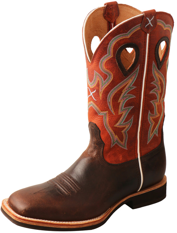 Mens Twisted X Orange Horseman Boots