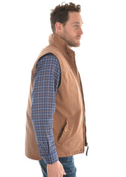 Thomas Cook Mens Canvas Vest - Dark Tan