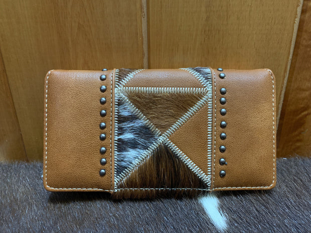 Trinity Ranch Hair On Secretary Style Wallet