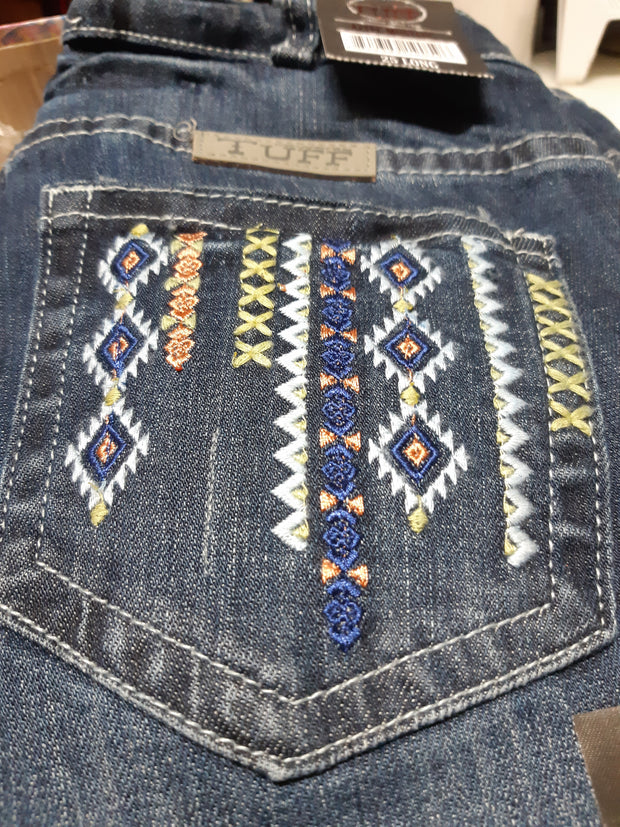 Cowgirl Tuff Ladies Aztec Mustang Jeans