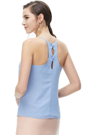 Naked Zebra Pale Blue Ladies Top- ON SALE