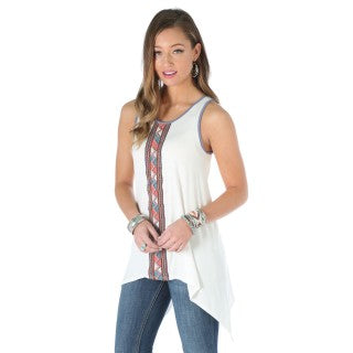 Wrangler Ladies Embroidered Tank- ON SALE