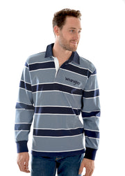 Wrangler Mens Finch Stripe Rugby