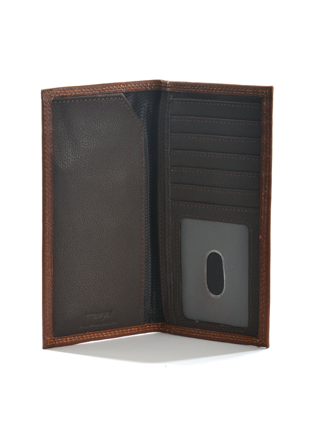 Wrangler Mens Daniel Rodeo Wallet - Dark Tan/Coffee