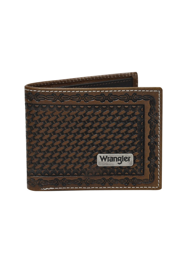 Wrangler Mens Trevor Wallet - Dark Tan/Coffee