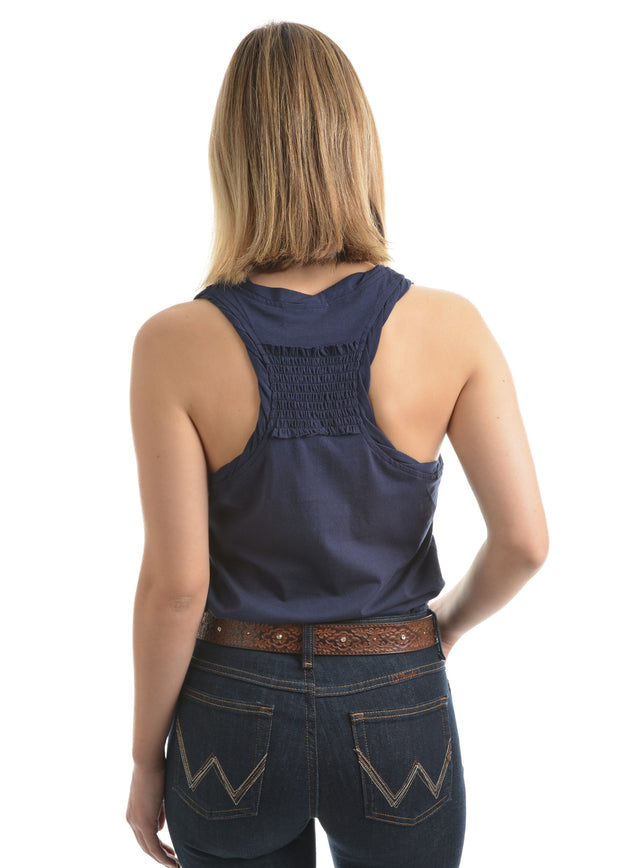 Wrangler Womens Cassie Navy Singlet- ON SALE