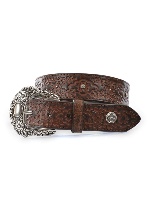 Ladies Wrangler Violet Belt - Chestnut