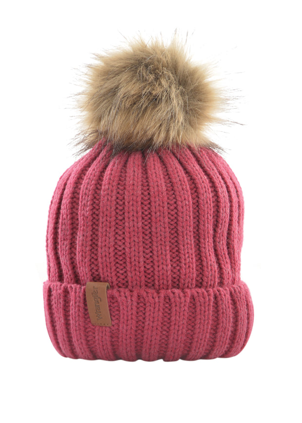 Wrangler Ladies Alice Beanie - Berry Marle