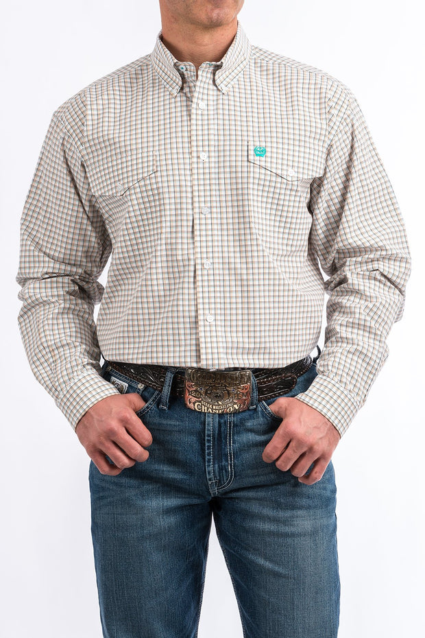 Cinch Mens L/S Shirt with double front pockets.