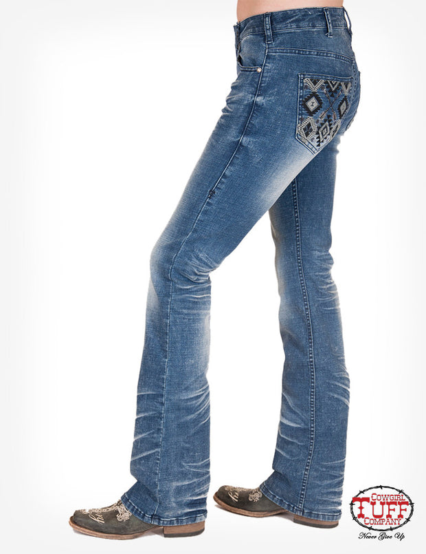 Cowgirl Tuff Festive Ladies Jeans