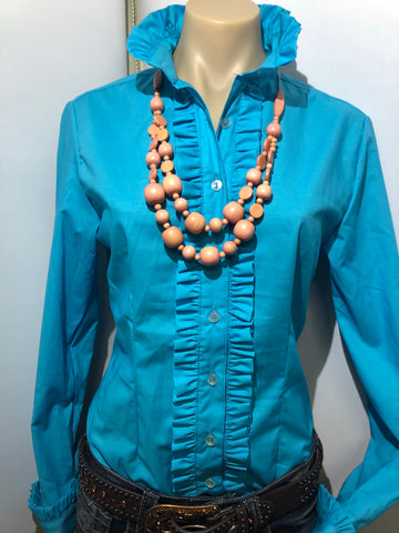 Nettie's Blue Frill L/S Shirt