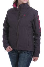 Cinch Ladies Brown/ Fuschia Bonded Jacket - Gillian