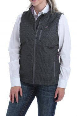 CINCH WOMENS CONCEALED CARRY BONDED VEST - BLACK/LILAC