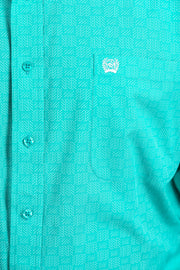 Cinch Mens L/S Shirt - Turquoise