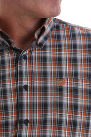 Cinch Navy, Brown and White Plaid L/S Shirt