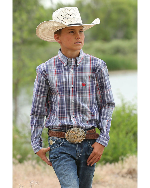 Cinch Boys Roger Long Sleeved Shirt - Multi