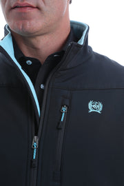 Cinch Mens Bonded Jacket - Black/Blue