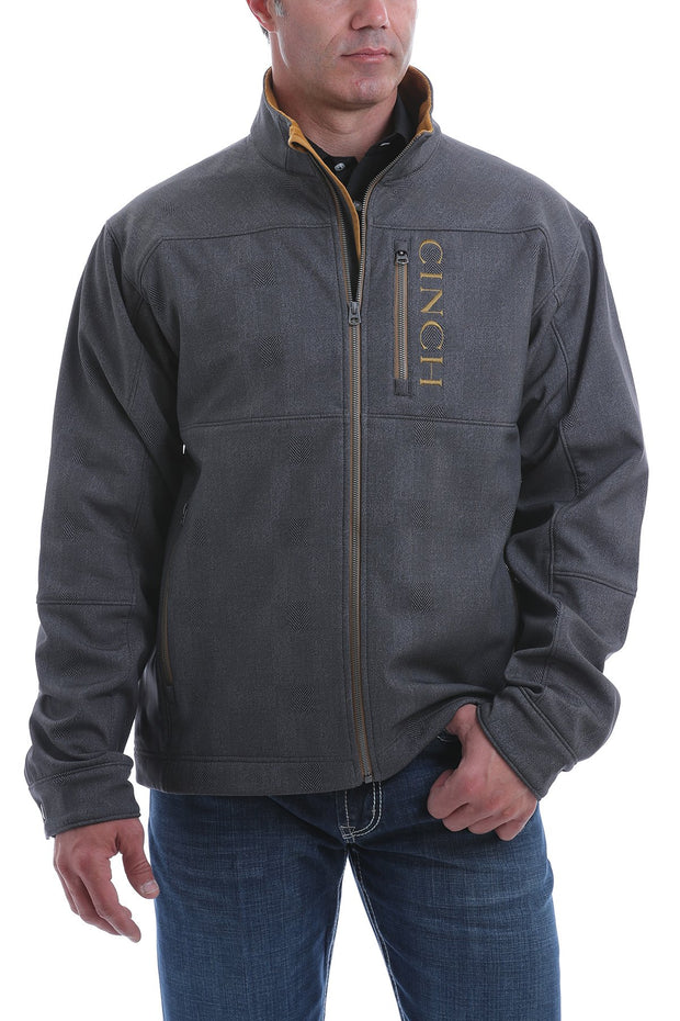 Cinch Mens Printed Bonded Jacket - Charcoal/Tobacco