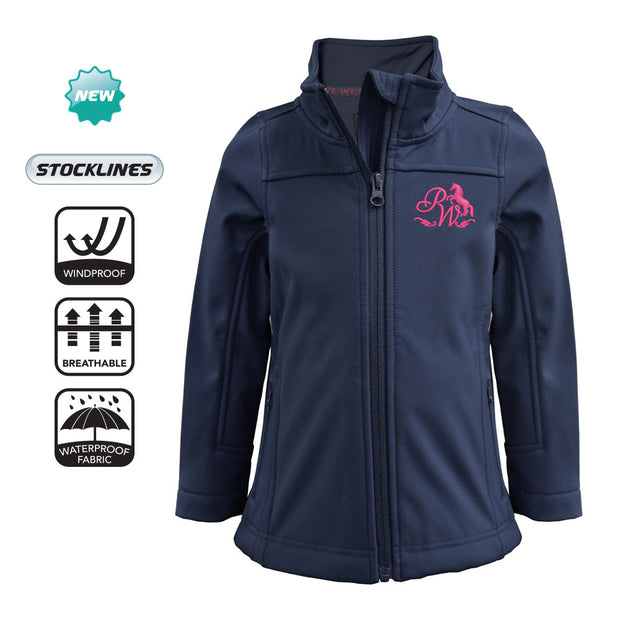 Pure Western Girls Soft Shell Jacket - Ink