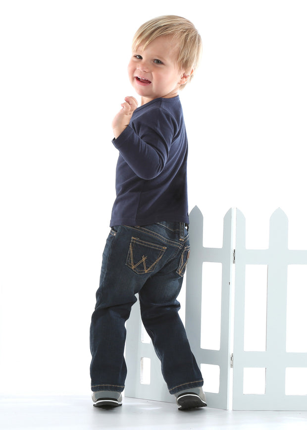 Wrangler Boys All Around Baby Western Jean - Dark Blue