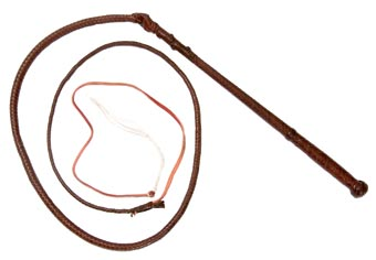 Toowoomba Saddlery Kangaroo Hide Stock Whip. 8ft x 12 plait