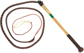 Toowoomba Saddlery Redhide Stock Whip. (5ft X 4 Plait)